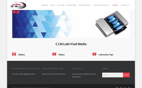 Screenshot of Press Page cimlubrifuel.com - Media - C.I.M Lubri Fuel - captured Dec. 6, 2015