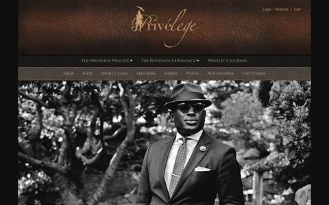 Screenshot of Home Page theprivelege.com - The Privelege | Custom Suits - captured Feb. 1, 2016