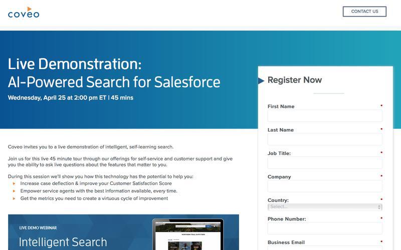 Coveo for Salesforce Live Demo