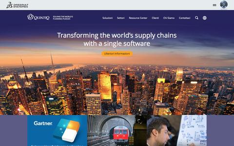 Screenshot of Home Page quintiq.it - Quintiq: Supply Chain Planning & Optimization - captured March 2, 2016