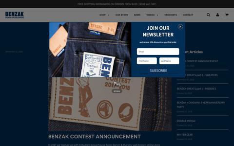 Screenshot of Press Page benzakdenimdevelopers.com - NEWS – Benzak Denim Developers - captured Dec. 18, 2018