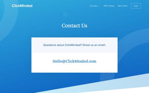 Screenshot of Contact Page clickminded.com - Contact - ClickMinded - captured March 2, 2018