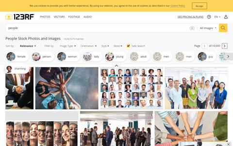 Screenshot of Team Page 123rf.com - People Stock Photos And Images - 123RF - captured July 14, 2019
