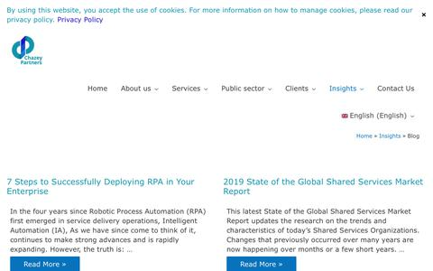 Screenshot of Blog chazeypartners.com - Blog - Chazey Partners - captured Jan. 22, 2020