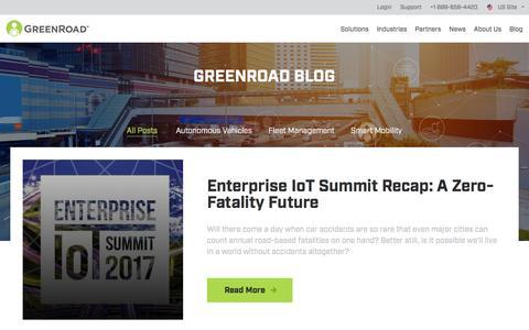 Screenshot of Blog greenroad.com - Greenroad Smart Mobility Blog - captured May 10, 2017