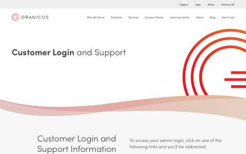 Screenshot of Login Page granicus.com - Admin Login | Granicus - captured Oct. 18, 2019