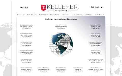 Screenshot of Locations Page kelleher-international.com - Kelleher Matchmaking locations | Kelleher International - captured Sept. 20, 2018