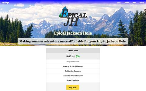 Screenshot of Pricing Page epicaljh.com - Epical JH - Pricing - captured Sept. 30, 2014