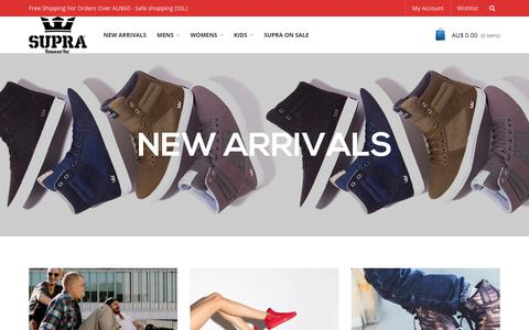Screenshot of Home Page renovarinc.com - Renovar Inc - Supra Australia Sale, High tops, Trainers, Clothing for Men, Wmn, Kids - captured Oct. 19, 2018