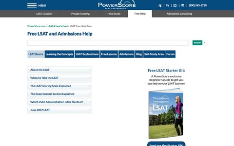 LSAT & Law School Admissions Free Help Area | PowerScore