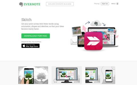 Screenshot of evernote.com - Skitch | Evernote - captured Sept. 30, 2015