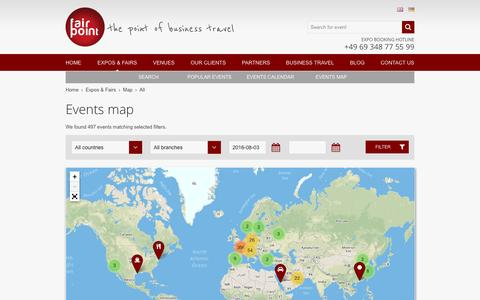 Screenshot of Maps & Directions Page fair-point.com - Map of events starting from 03-08-2016 | Fair Point - captured Aug. 3, 2016