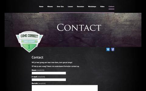 Screenshot of Contact Page ccda-apeldoorn.nl - CCDA Apeldoorn |   Contact - captured Oct. 2, 2014