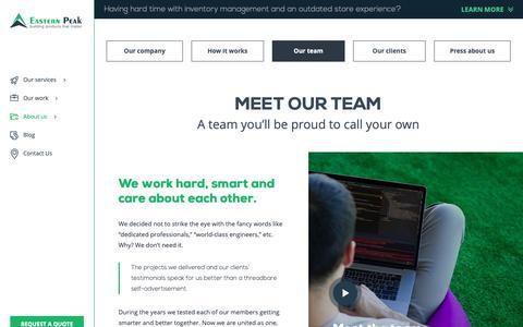 Screenshot of Team Page easternpeak.com - The Best Team Ever : Eastern Peak - captured March 22, 2019