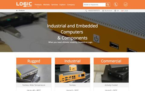 Screenshot of Products Page logicsupply.com - Industrial and Embedded Computers & Components  | Logic Supply UK - captured March 23, 2016