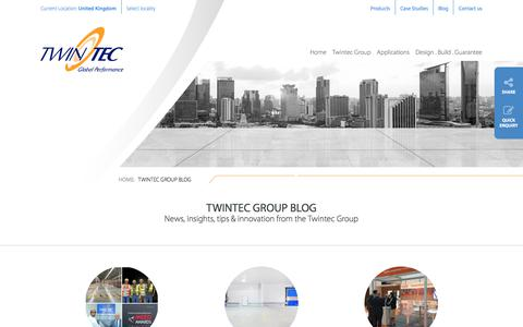 Screenshot of Blog twintecgroup.com - Blog | News, ideas and insights from the Twintec Group - captured Oct. 24, 2017