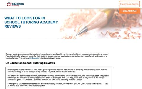 Screenshot of c2educate.com - What to Look for in School Tutoring Academy Reviews - captured March 18, 2017