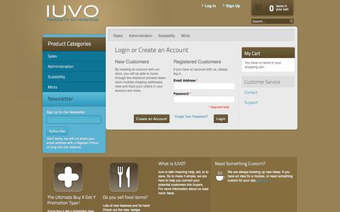 Screenshot of Login Page iuvocommerce.com - Magento Commerce - captured Sept. 30, 2014