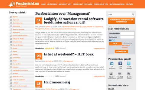 Screenshot of Team Page persbericht.nu - Management Archieven - Persbericht.nu | Persbericht.nu - captured Oct. 2, 2014