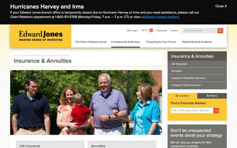Insurance & Annuities | Edward Jones