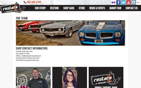 Screenshot of Team Page restoreamusclecar.com - The Team | Restore A Muscle Car™ LLC - captured Oct. 22, 2017