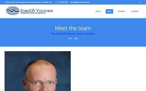 Screenshot of Team Page matthewhua.com - EuroUS Ventures     Team - captured Oct. 28, 2014