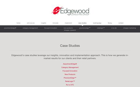 Screenshot of Case Studies Page edgewoodcg.com - Edgewood Consulting Group   case studies - captured Sept. 27, 2018