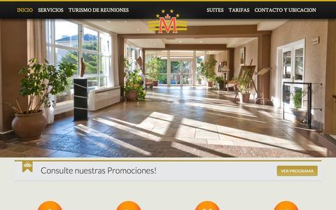 Screenshot of Home Page hotelmarcin.com - Marcin Hotel Cariló | Aniversario 15 años en Cariló - captured Oct. 19, 2015
