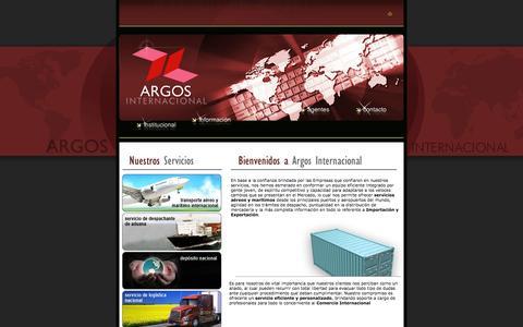 Screenshot of Home Page argosinternacional.com - ARGOS Internacional - captured Jan. 21, 2015