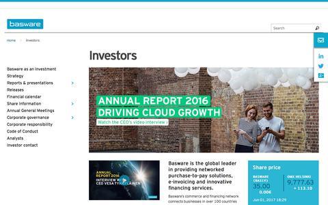 Information for Investors | Basware