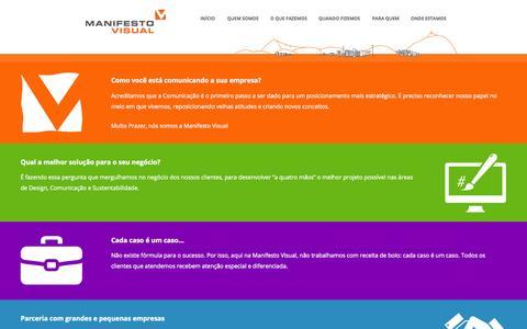 Screenshot of Home Page manifestovisual.com.br - Manifesto Visual | Design - Comunicação - captured July 20, 2015