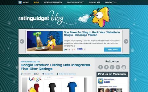 Screenshot of Blog rating-widget.com - Blog | Rating-Widget - captured Sept. 19, 2014