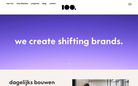 Screenshot of Home Page 100.nl - 100.nl, Merkversterking - captured Dec. 10, 2018