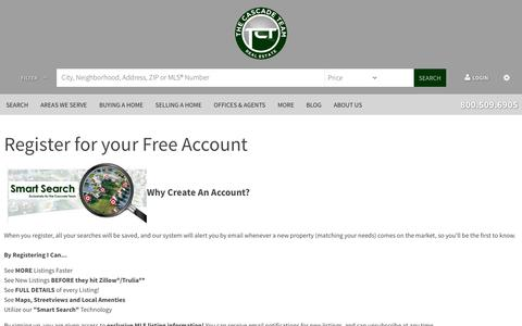 Screenshot of Signup Page thecascadeteam.com - Register - captured Oct. 12, 2017