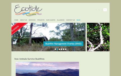 Screenshot of Blog ecotide.com.au - Blog - Ecotide - captured Dec. 7, 2015