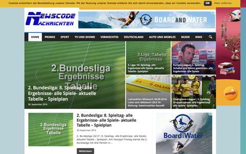 Screenshot of Blog newscode.de - Newscode Nachrichten mit News aus Sport von Promis, Stars und Sternchen, automobiles sowie Klatsch und Tratsch aus TV & Shows » Newscode Nachrichten - captured Sept. 30, 2016