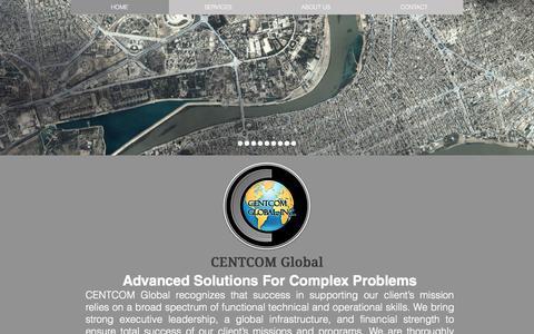 Screenshot of Home Page centcomglobal.com - CENTCOM Global - captured June 18, 2015