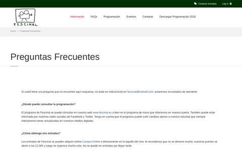 Screenshot of FAQ Page cineverano.es - Cine de Verano Madrid || Fescinal - captured Sept. 24, 2018