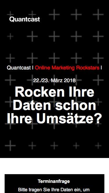 Quantcast auf den OMR 2018