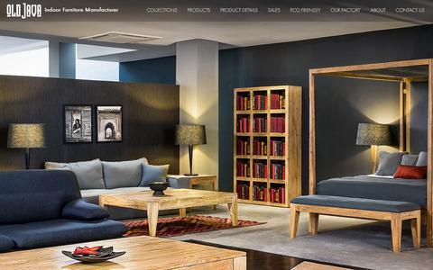 Screenshot of Home Page oldjava.com - Oldjava | Indoor Furniture Manufacturer | Indonesia Exporter - captured Jan. 20, 2016