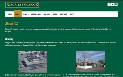 Screenshot of About Page niagaraproduce.com - About Us - Niagara Produce - captured Nov. 30, 2016
