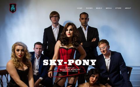 Screenshot of Home Page sky-pony.com - Sky-Pony - captured Sept. 13, 2015