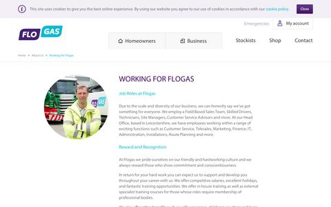 Screenshot of Jobs Page flogas.co.uk - Working For Flogas - LPG Energy Sector Jobs UK - captured Jan. 21, 2017