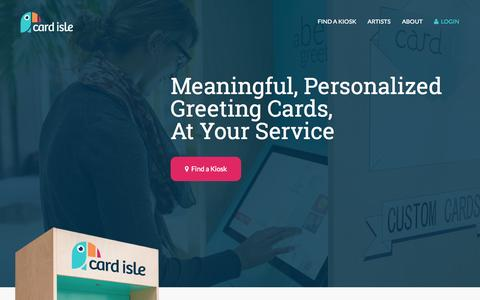 Screenshot of Home Page cardisle.com - Card Isle - Meaningful, Personalized Greeting Cards - captured Aug. 11, 2015