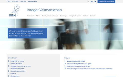 BING - Bureau Integriteit Nederlandse Gemeenten