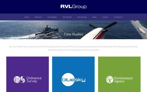 Screenshot of Case Studies Page rvl-group.com - Case Studied - RVL Group - What We Do & How We Do It - captured Dec. 1, 2016