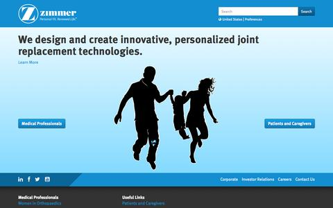 Personalized Joint Replacement Technology - Knee, Hip, Shoulder, Spine, Foot Replacement Manufacturers | Zimmer