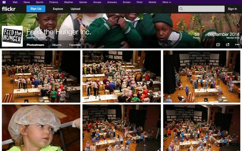 Screenshot of Flickr Page flickr.com - Flickr: feedthehungerinc's Photostream - captured Oct. 29, 2014