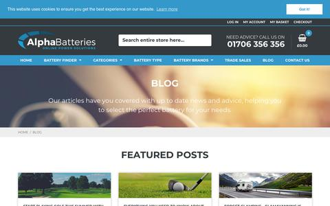 Screenshot of Blog alpha-batteries.co.uk - Blog - Alpha Batteries - captured July 29, 2018