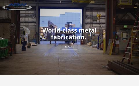 Screenshot of Home Page abwtec.com - ABW Technologies, Inc. | Metal Fabrication | Arlington, WA - captured Oct. 6, 2017